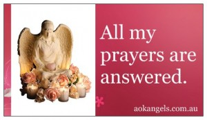 All My Prayers Are Answered Affirmation Magnet