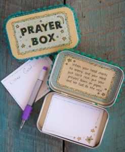 moon and stars prayer box